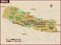 landkaart van nepal