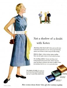 1953 kotex housewife